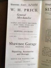 W.H. Price General Merchandise, Shawnee Garage